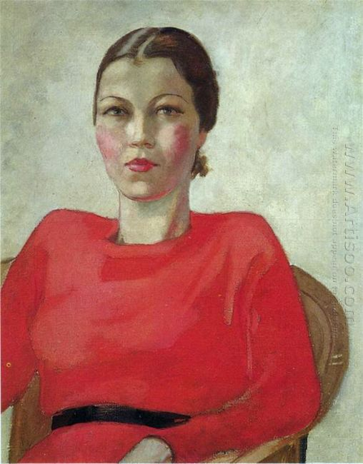 woman in red 1939