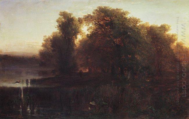 evening landscape 1861