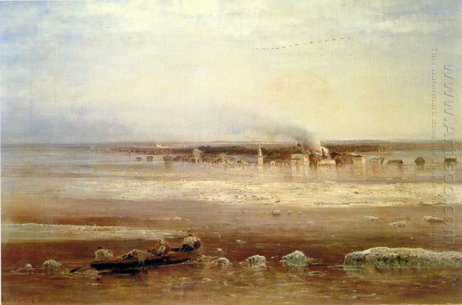 flooding of the volga river near yaroslavl 1871