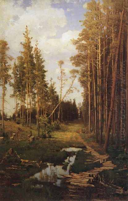 glade in a pine forest 1883