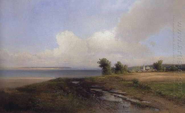 landscape bank of the volga 1874