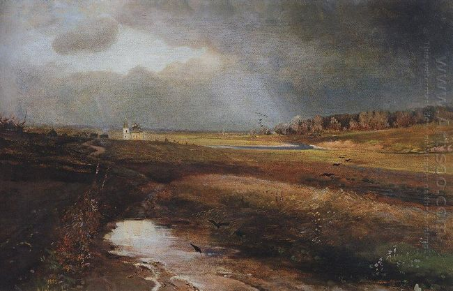 landscape with church 1885