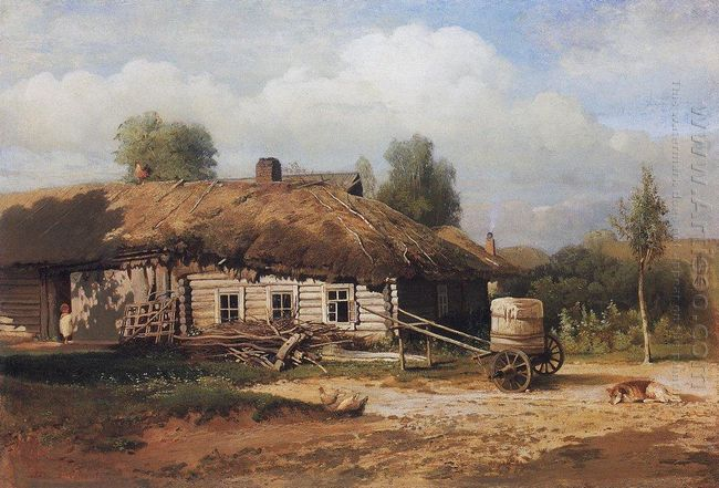 landscape with hut 1866