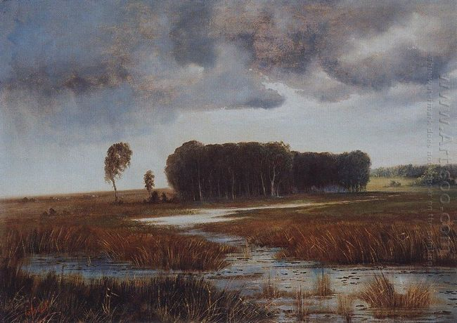 landscape with marsh and wooded islands