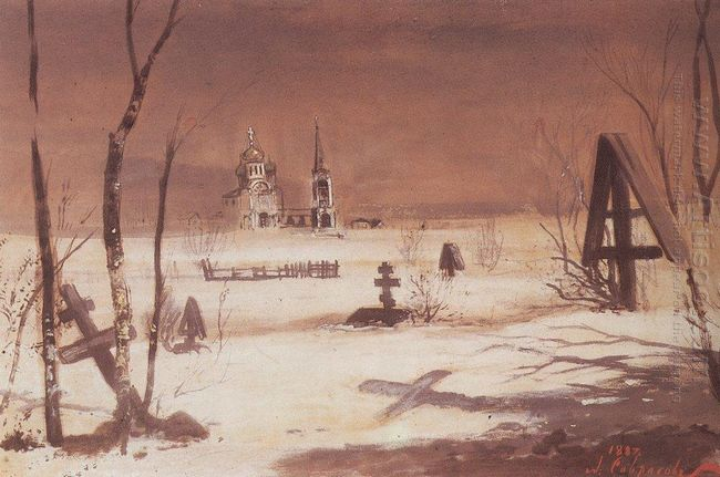 rural cemetery in the moonlight 1887