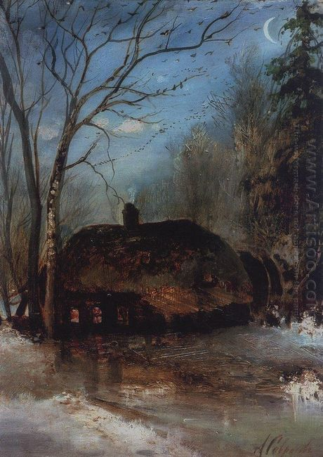 spring landscape with cottage 1890