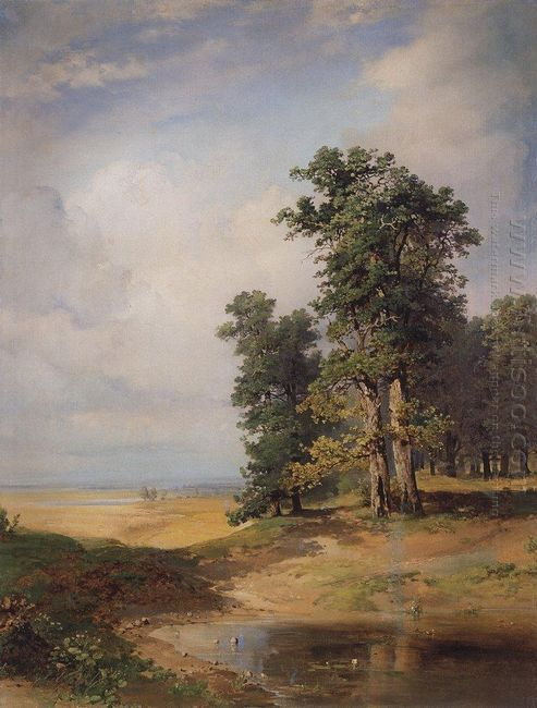 summer landscape with oaks 1850