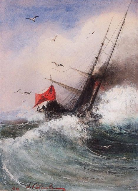 the death of the ship at sea 1862