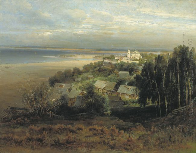 the monastery of the caves near nizhny novgorod 1871
