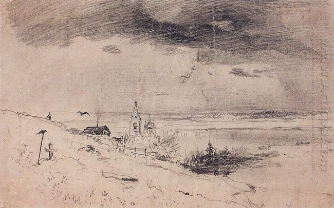 the old churchyard on the banks of the volga 1874