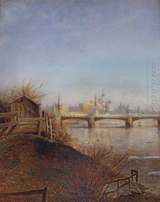view of the moscow kremlin 1873