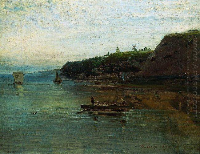 volga near gorodets 1870