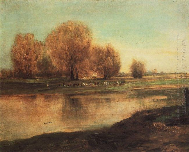 willow by the pond 1872