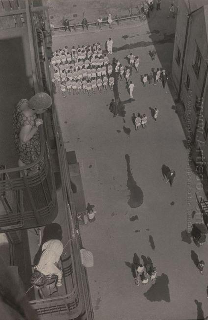 assembling for a demonstration 1930
