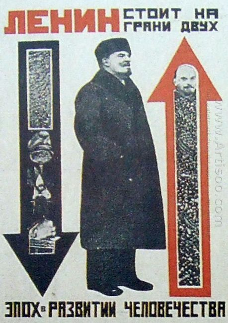 lenin is on the verge of two epochs of human development