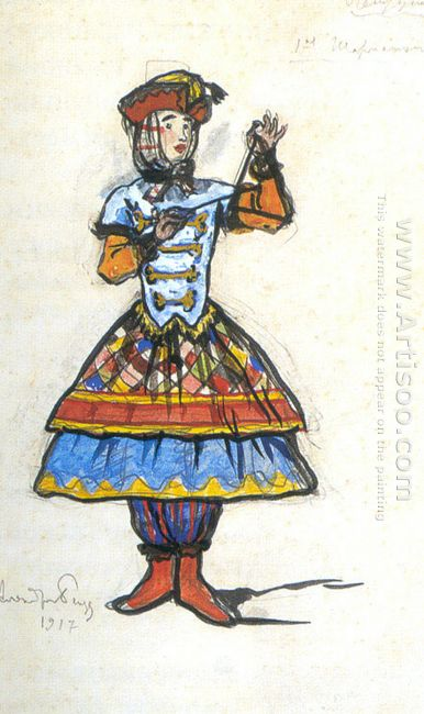 first barrel organ player costume design