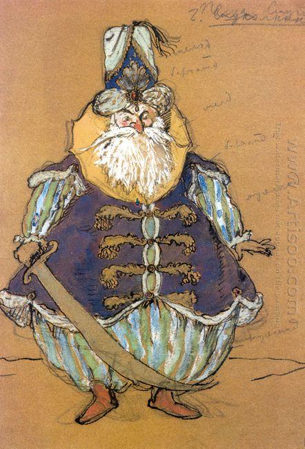 pasha costume design for tcherepnin s ballet le pavillon d armid