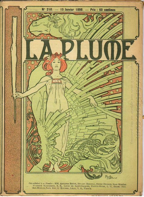 cover composed by mucha for the french literary and artistic rev