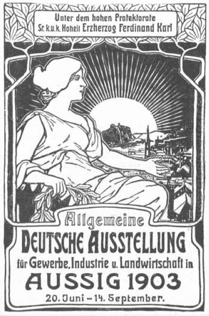 general german poster exhibition for trade industry and agricult