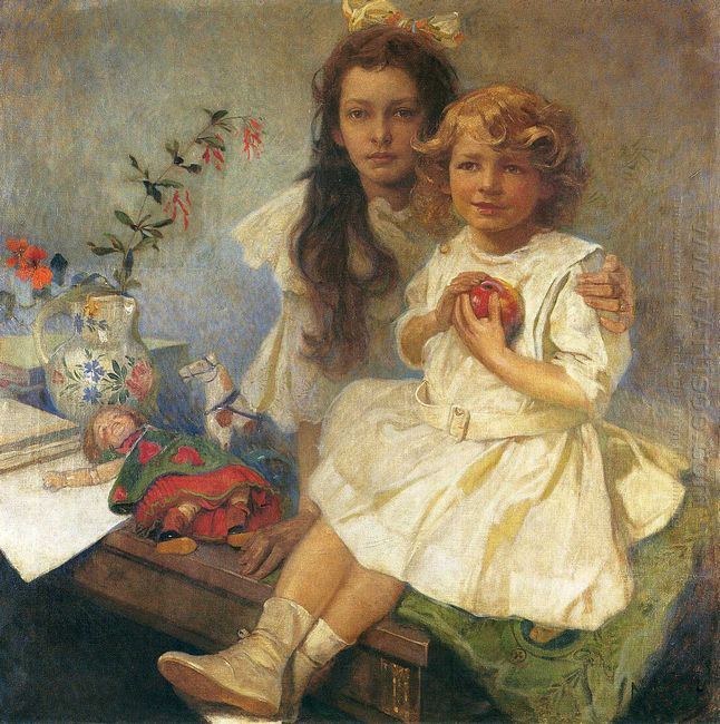 jaroslava and jiri the artist s children 1919