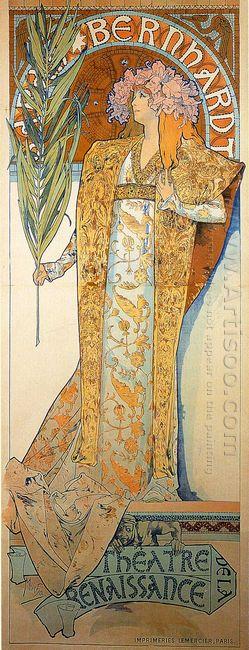 poster for victorien sardou s gismonda starring sarah bernhardt