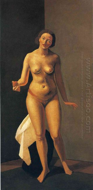 female nude holding apple 1941