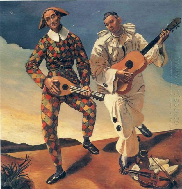 harlequin and pierrot 1924
