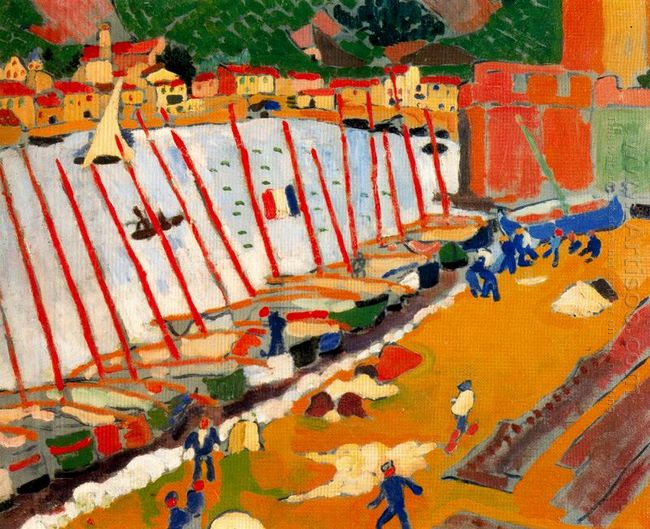 the port of collioure 1905