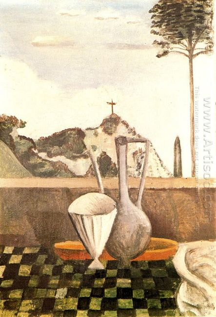 the still life in front of cross on top of the mountain 1912