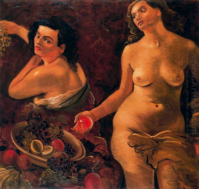 two naked women and still life 1935