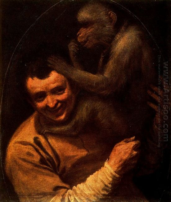 man with monkey 1591