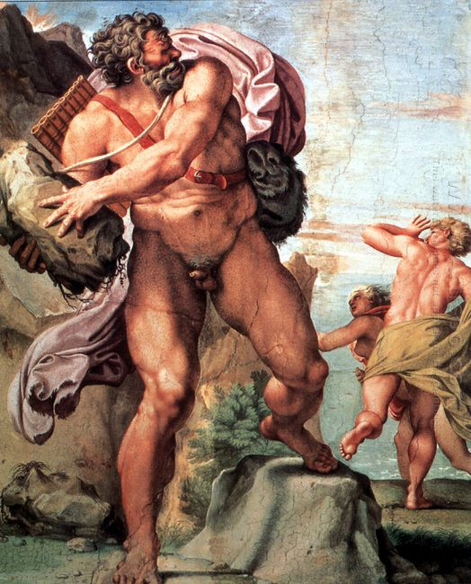 polyphemus attacking acis and galatea 1605