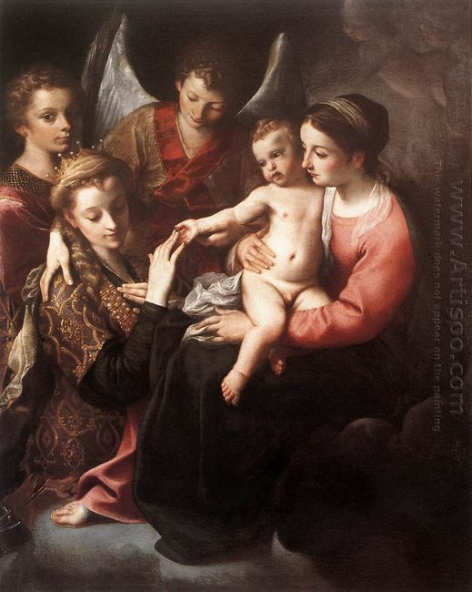 the mystic marriage of st catherine 1587