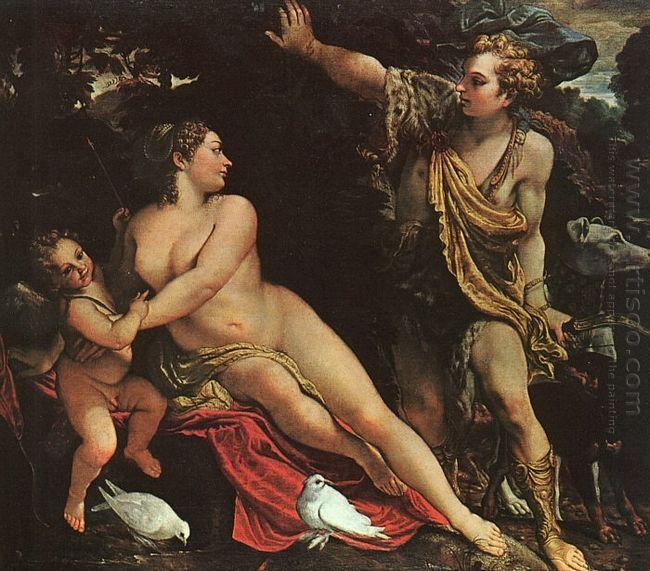 venus adonis and cupid 1590