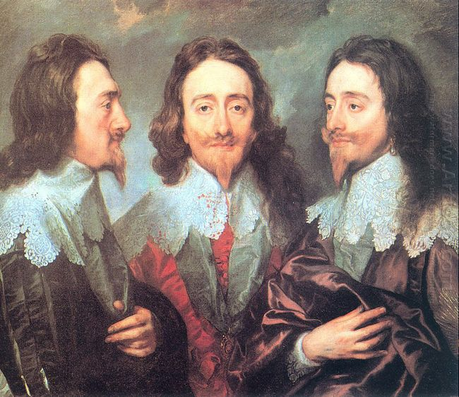 charles i in three positions 1636