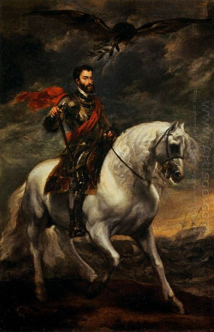 emperor charles v on horseback 1620