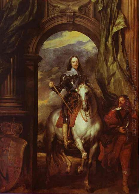 equestrian portrait of charles i king of england with seignior d