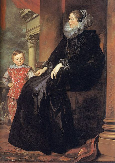genoese noblewoman with her son 1626