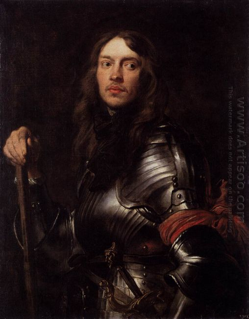 portrait of a man in armour with red scarf 1627