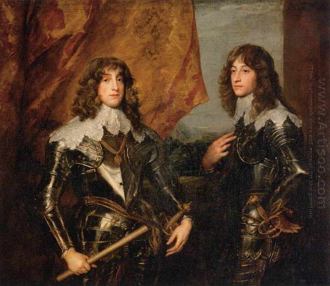 portrait of the princes palatine charles louis i and his brother