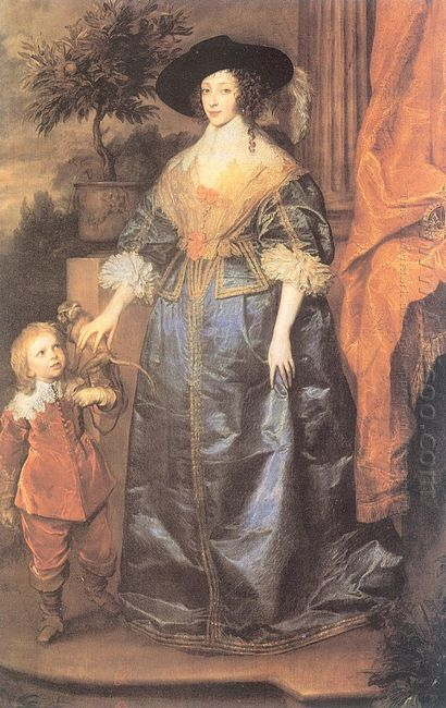 queen henrietta maria and her dwarf sir jeffrey hudson 1633