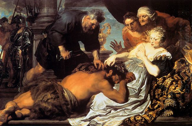 samson and delilah 1620