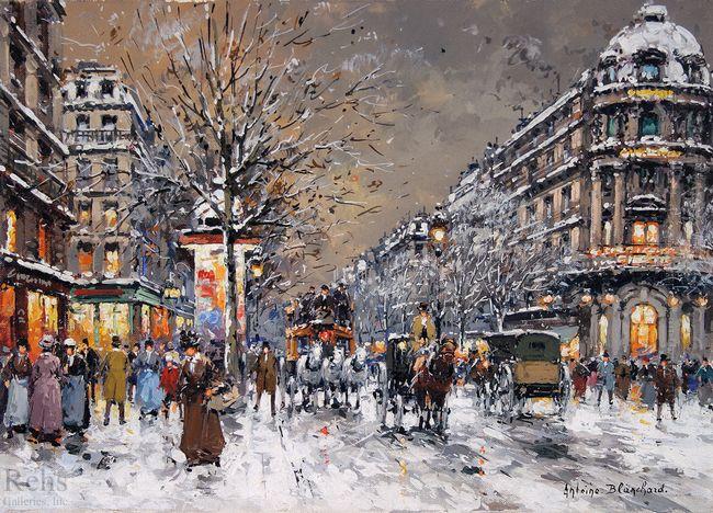 les grands boulevards sous la neige