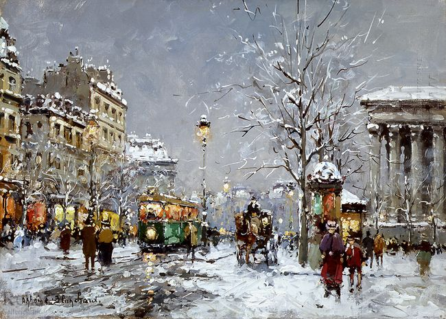 place de la madeleine winter
