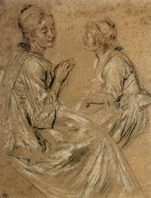 two seated women 1717