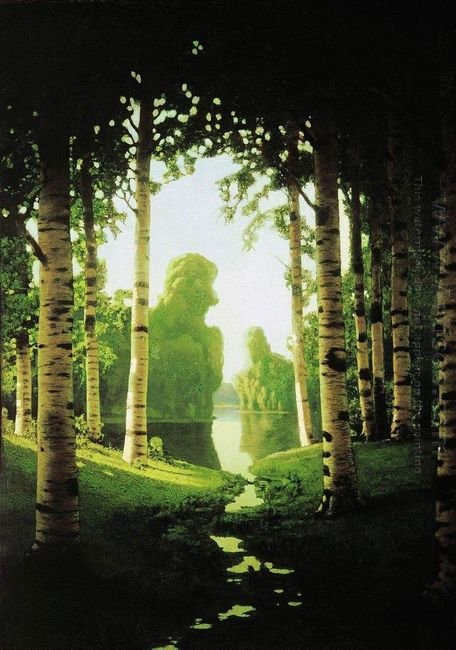 a birch grove 1901