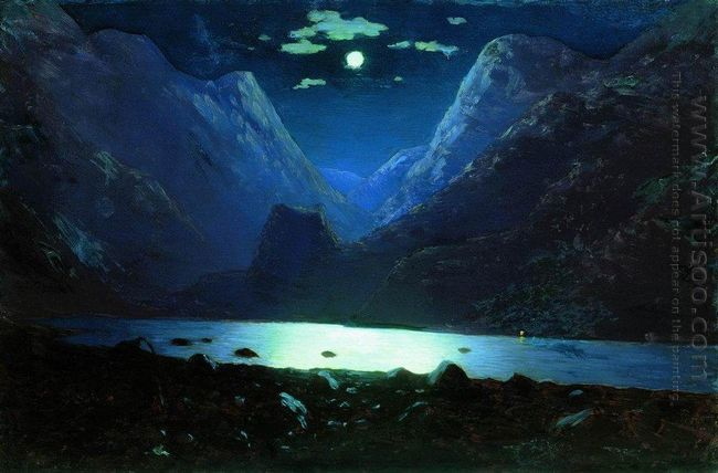 daryal pass moonlight night