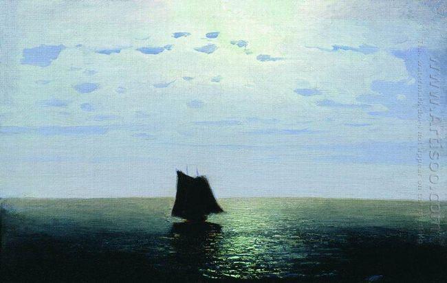 moonlight night on the sea