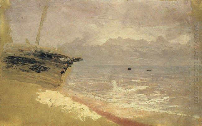 sea gloomy day