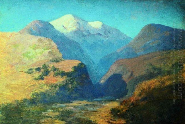 snowy mountain peaks caucasus